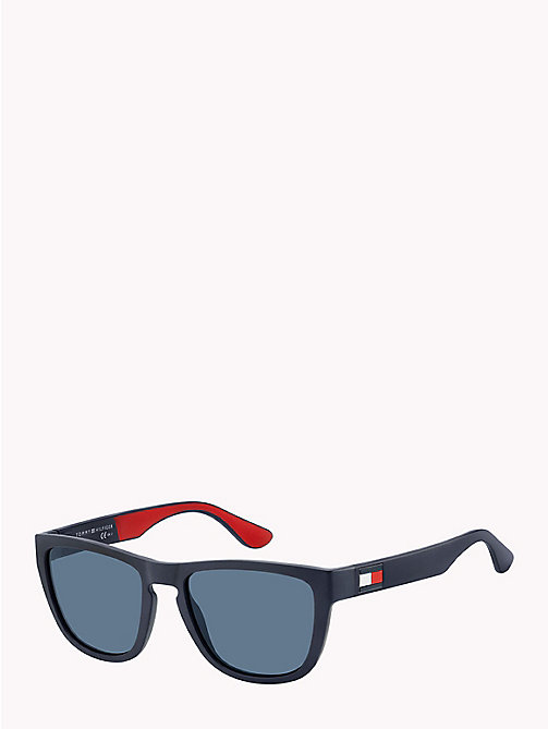 TOMMY HILFIGER Notched Nose Bar Sunglasses - BLUE RED WHITE / BLUE AVIO - TOMMY HILFIGER VACATION FOR HER - main image