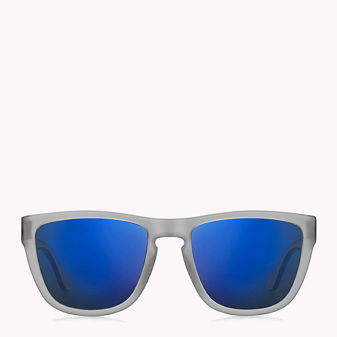 TOMMY HILFIGER Notched Nose Bar Sunglasses - BLUE RED WHITE / BLUE AVIO - TOMMY HILFIGER Men - detail image 1