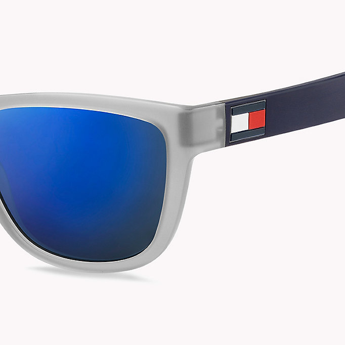 TOMMY HILFIGER Notched Nose Bar Sunglasses - BLUE RED WHITE / BLUE AVIO - TOMMY HILFIGER Men - detail image 2