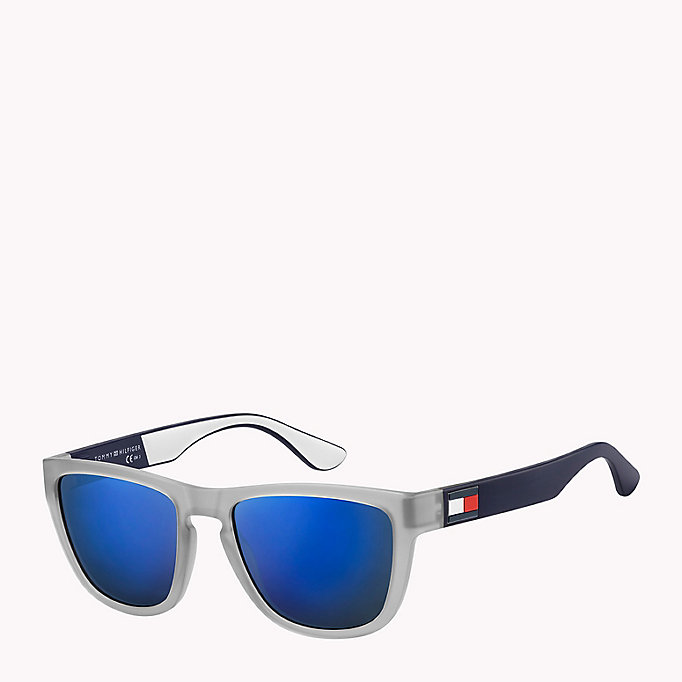 TOMMY HILFIGER Notched Nose Bar Sunglasses - BLUE RED WHITE / BLUE AVIO - TOMMY HILFIGER Men - main image