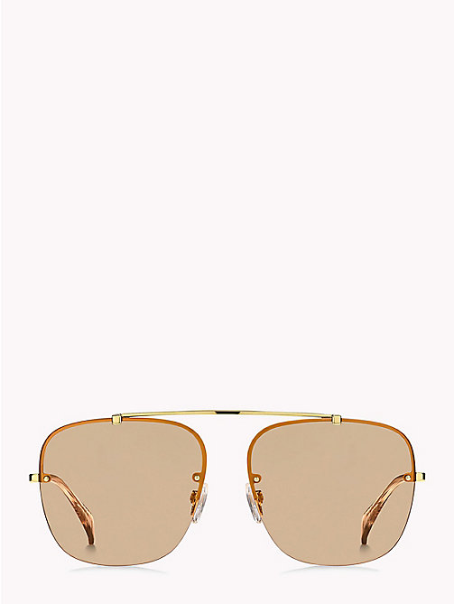 TOMMY HILFIGER Brow Bar Sunglasses - GOLD/BROWN - TOMMY HILFIGER Sunglasses - detail image 1