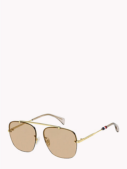 TOMMY HILFIGER Brow Bar Sunglasses - GOLD/BROWN - TOMMY HILFIGER Bags & Accessories - main image