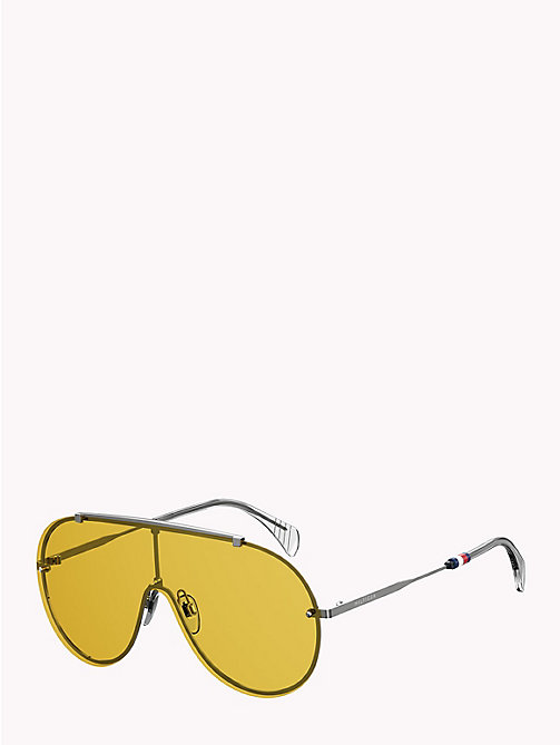 TOMMY HILFIGER Pinnacle Aviator Sunglasses - RUTHENIUM YELLOW -  Bags & Accessories - detail image 1