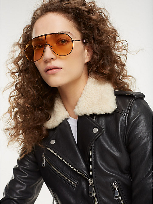 TOMMY HILFIGER Pinnacle Aviator Sunglasses - RUTHENIUM YELLOW - TOMMY HILFIGER Sunglasses - main image