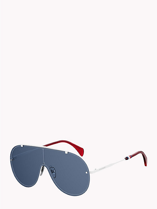 TOMMY HILFIGER Pinnacle Aviator Sunglasses - WHITE BLUE AZURE - TOMMY HILFIGER Sunglasses - detail image 1