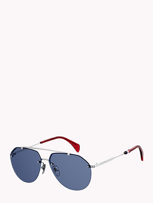 TOMMY HILFIGER Pinnacle Aviator Sunglasses - PALLADIUM BLUE AVIO - TOMMY HILFIGER Sunglasses - detail image 1