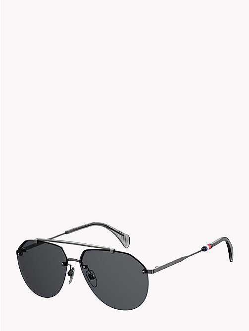 TOMMY HILFIGER Pinnacle Aviator Sunglasses - DARK RUTHENIUM GREY -  Bags & Accessories - detail image 1