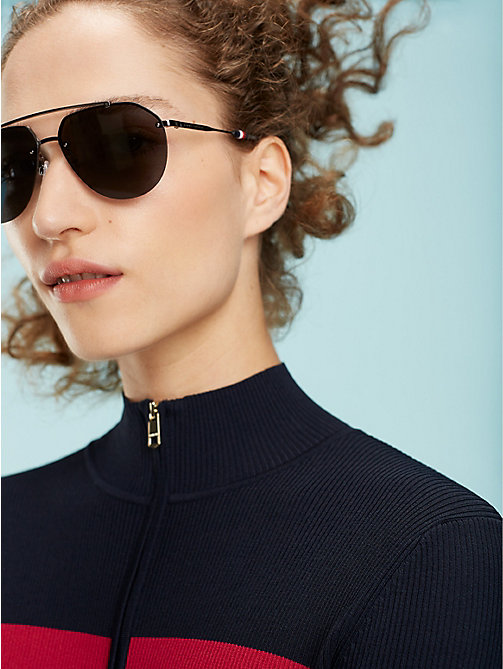 TOMMY HILFIGER Pinnacle Aviator Sunglasses - DARK RUTHENIUM GREY -  Bags & Accessories - main image