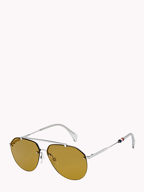 TOMMY HILFIGER Pinnacle Aviator Sunglasses - PALLADIUM NICOTINE -  Bags & Accessories - detail image 1