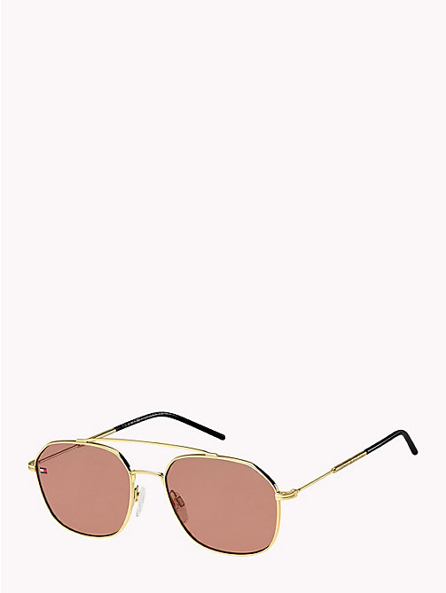 TOMMY HILFIGER Pinnacle Contemporary Caravan Sunglasses - GOLD BURGUNDY - TOMMY HILFIGER Sunglasses - detail image 1