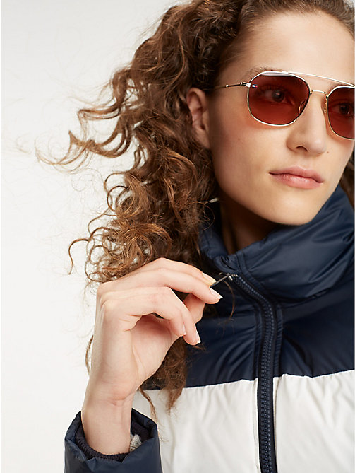 TOMMY HILFIGER Pinnacle Contemporary Caravan Sunglasses - GOLD BURGUNDY - TOMMY HILFIGER Sunglasses - main image