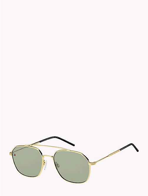TOMMY HILFIGER Pinnacle Contemporary Caravan Sunglasses - GOLD/GREEN - TOMMY HILFIGER Sunglasses - detail image 1