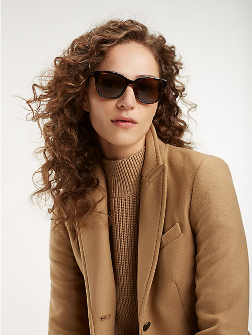 TOMMY HILFIGER Oversize Cat-Eye Sunglasses - HAVANA BROWN - TOMMY HILFIGER Sunglasses - main image