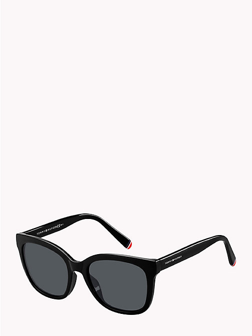 TOMMY HILFIGER Oversize Cat-Eye Sunglasses - BLACK/GREY - TOMMY HILFIGER Sunglasses - detail image 1