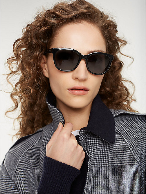 TOMMY HILFIGER Oversize Cat-Eye Sunglasses - BLACK/GREY - TOMMY HILFIGER Sunglasses - main image