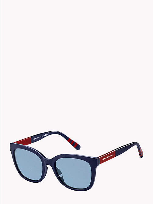 TOMMY HILFIGER Oversize Cat-Eye Sunglasses - BLUE  BLUE AVIO - TOMMY HILFIGER Sunglasses - detail image 1