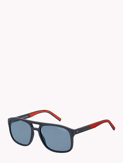 TOMMY HILFIGER Polo Piqué Caravan Sunglasses - MATT BLUE / RED RUBBER BLUE AVIO - TOMMY HILFIGER Sunglasses - detail image 1