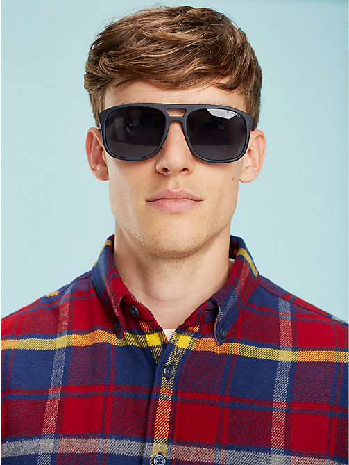 TOMMY HILFIGER Polo Piqué Caravan Sunglasses - MATT BLUE / RED RUBBER BLUE AVIO - TOMMY HILFIGER Sunglasses - main image