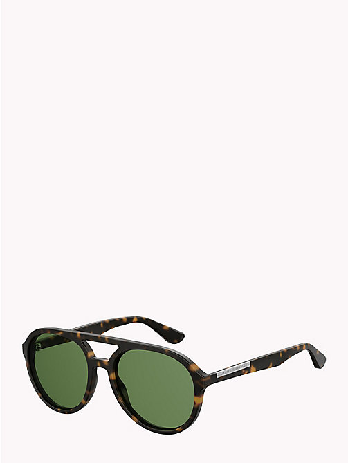 TOMMY HILFIGER Double Bridge Aviators - HAVANA GREEN - TOMMY HILFIGER Sunglasses - detail image 1