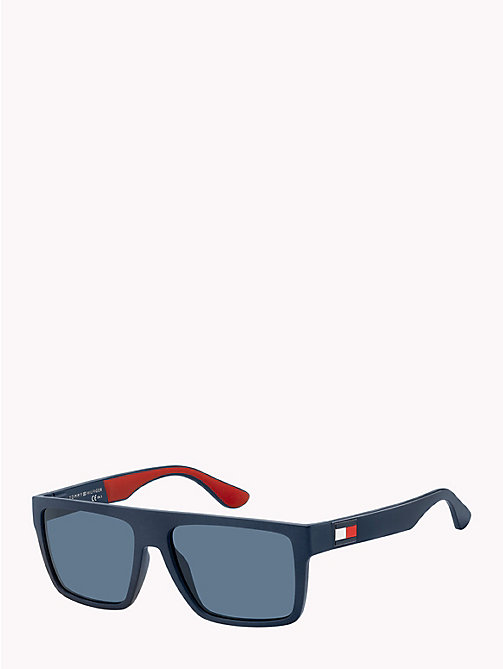 TOMMY HILFIGER Rectangular Sunglasses - MATTE BLUE / RED RUBBER BLUE AVIO - TOMMY HILFIGER Sunglasses - detail image 1