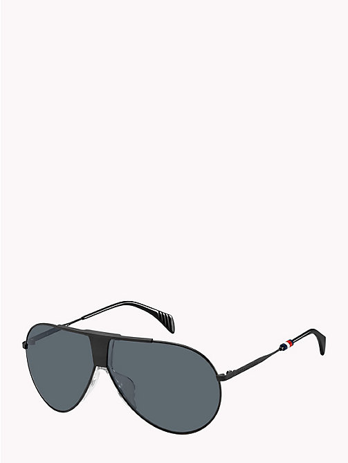 TOMMY HILFIGER Pinnacle Pilot Sunglasses - MATT BLACK GREY - TOMMY HILFIGER Sunglasses - detail image 1