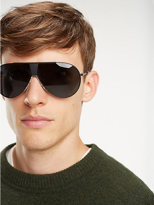 TOMMY HILFIGER Pinnacle Pilot Sunglasses - MATT BLACK GREY - TOMMY HILFIGER Sunglasses - main image