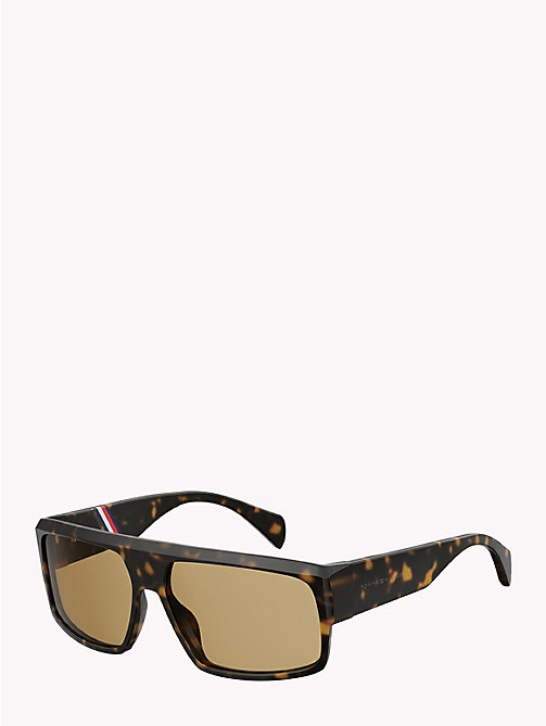 TOMMY HILFIGER Runway Rectangular Sunglasses - HAVANA NICOTINE - TOMMY HILFIGER Hilfiger Collection - detail image 1