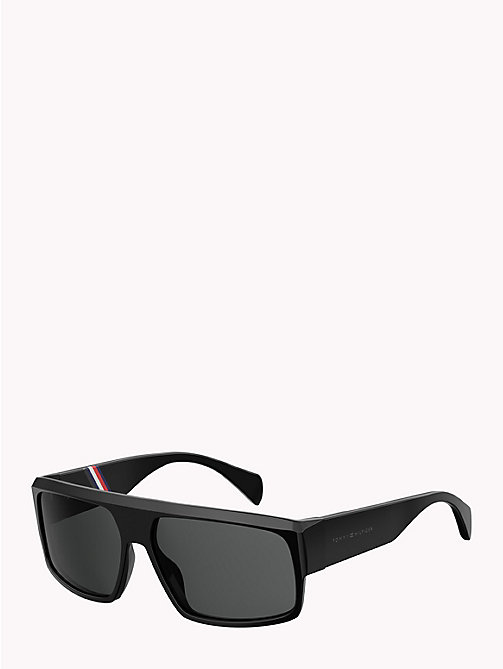 TOMMY HILFIGER Runway Rectangular Sunglasses - BLACK/GREY - TOMMY HILFIGER Sunglasses - main image