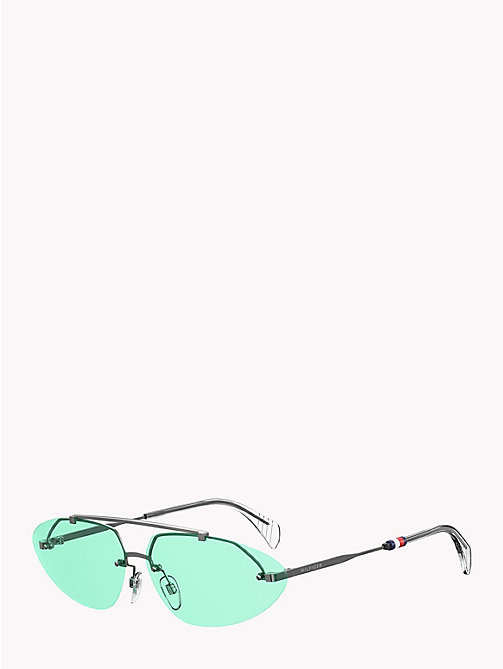 TOMMY HILFIGER Pinnacle Cat-Eye-Sonnenbrille - RUTHENIUM / AQUA GREEN - TOMMY HILFIGER Sonnenbrillen - main image