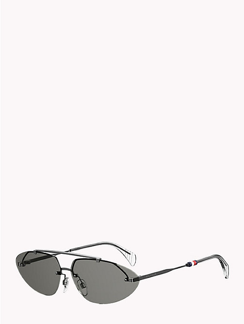 TOMMY HILFIGER Pinnacle Cat-Eye Sunglasses - DARK RUTHENIUM GREY - TOMMY HILFIGER Sunglasses - main image