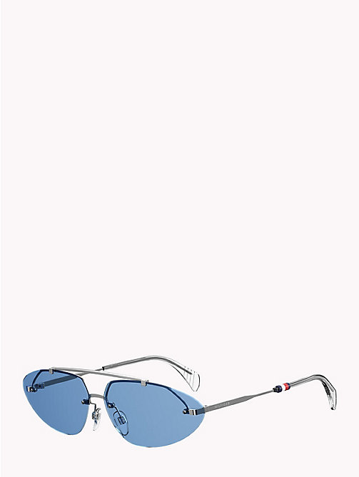 TOMMY HILFIGER Pinnacle Cat-Eye Sunglasses - PALLADIUM / BLUE AZURE - TOMMY HILFIGER Sunglasses - main image