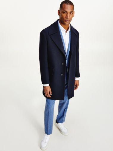 Wool Blend Slim Fit Coat