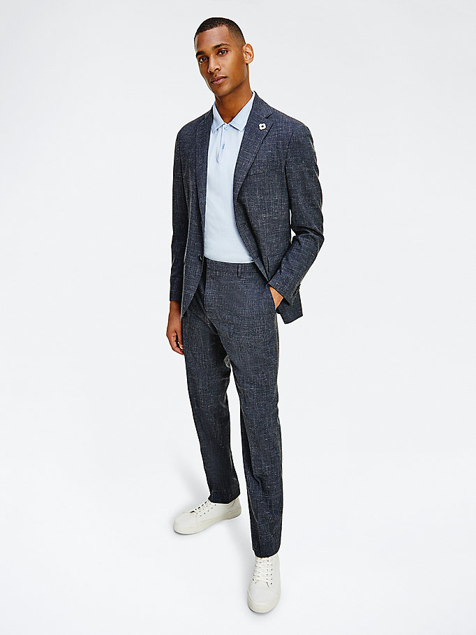 blue tommy x lardini regular fit suit for men tommy hilfiger