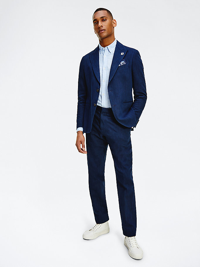 blue tommy x lardini slim fit suit for men tommy hilfiger