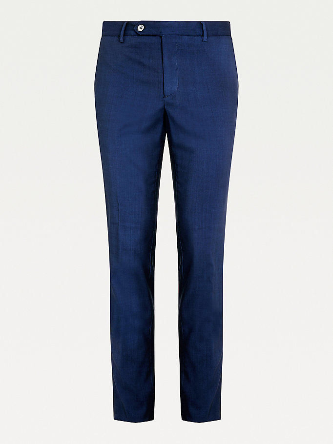 blue tommy x lardini wool trousers for men tommy hilfiger