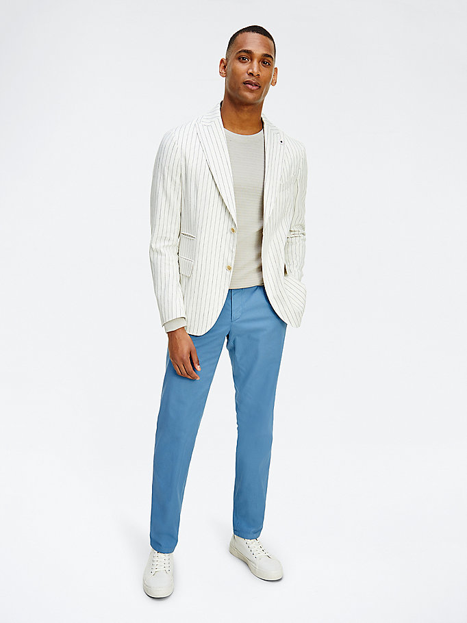 denim garment dyed trousers for men tommy hilfiger