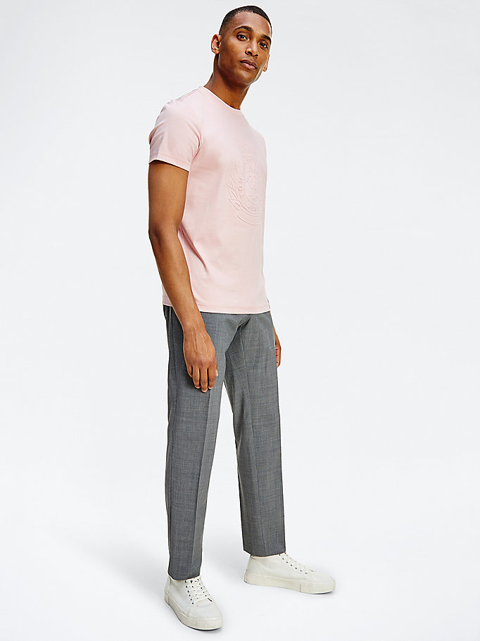grey pinstripe trousers for men tommy hilfiger