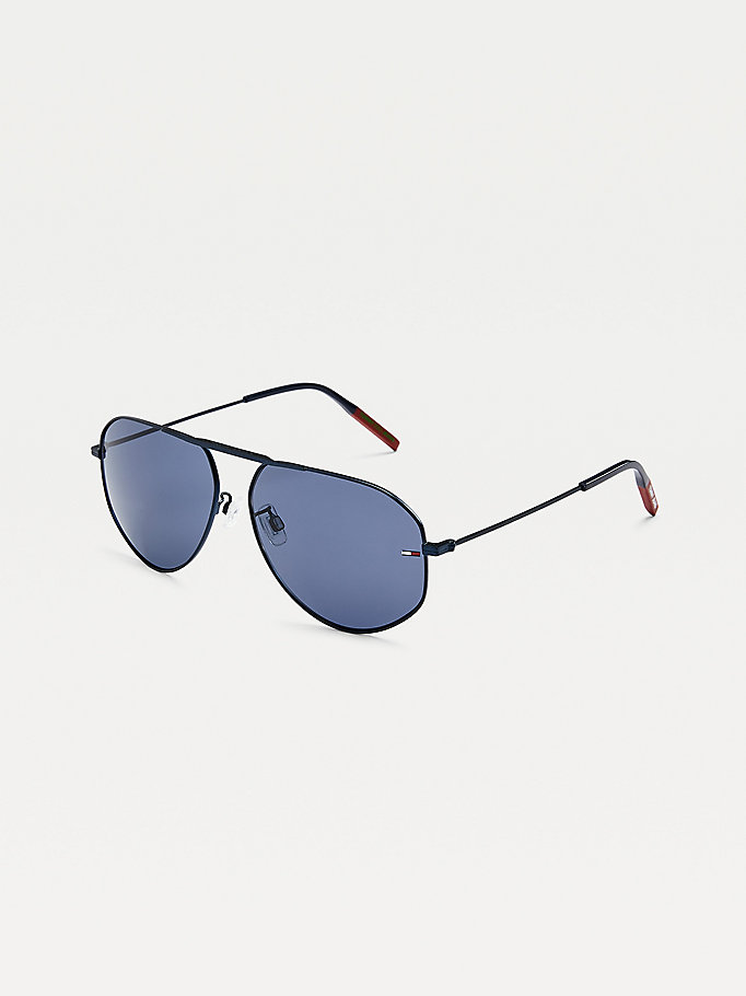 blue mono-bridge aviator sunglasses for unisex tommy jeans