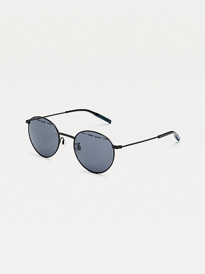 black round lens sunglasses for unisex tommy jeans