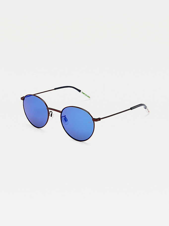 red round lens sunglasses for unisex tommy jeans