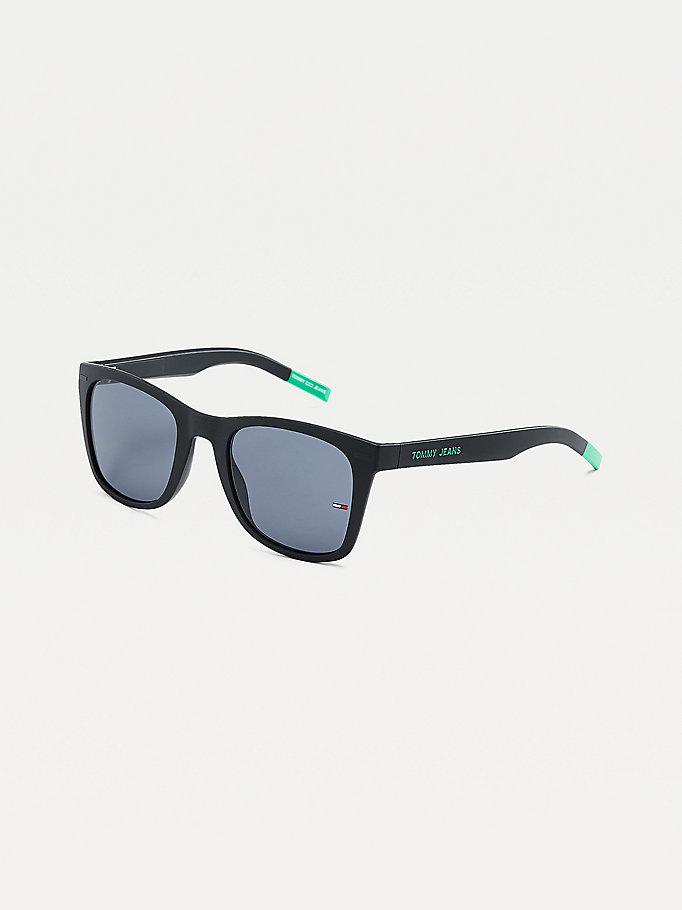 black square frame sunglasses for unisex tommy jeans