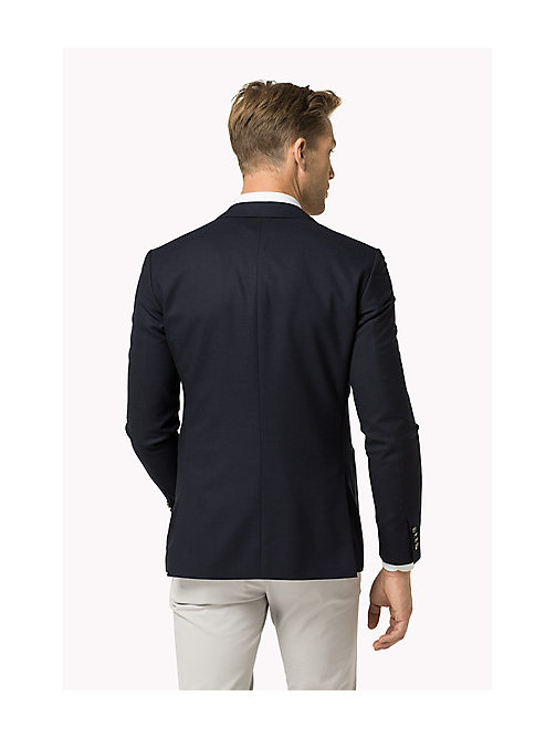 TOMMY HILFIGER Virgin Wool Blend Slim Fit Blazer - 429 - TOMMY HILFIGER Tailored - detail image 1