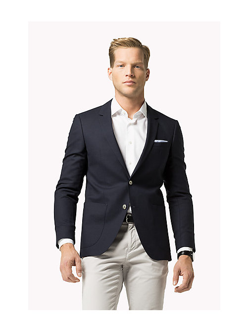 TOMMY HILFIGER Virgin Wool Blend Slim Fit Blazer - 429 - TOMMY HILFIGER Tailored - main image