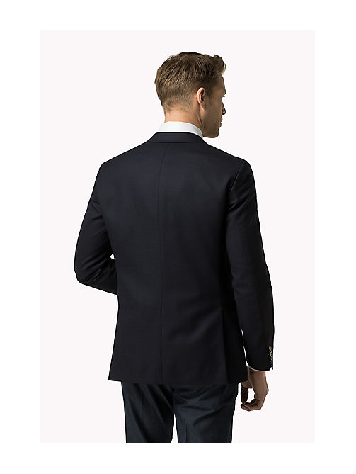 TOMMY HILFIGER Virgin Wool Blend Fitted Blazer - 429 - TOMMY HILFIGER Tailored - detail image 1