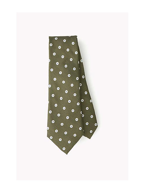 TOMMY HILFIGER Dotted Silk Tie - 306 - TOMMY HILFIGER Bags & Accessories - main image