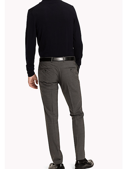 TOMMY HILFIGER Stretch Virgin Wool Trousers - 010 -  Men - detail image 1