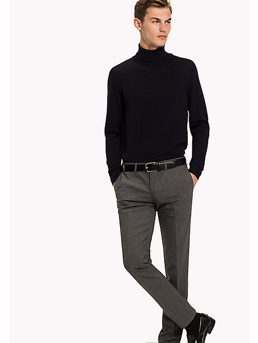 TOMMY HILFIGER Stretch Virgin Wool Trousers - 010 -  Men - main image