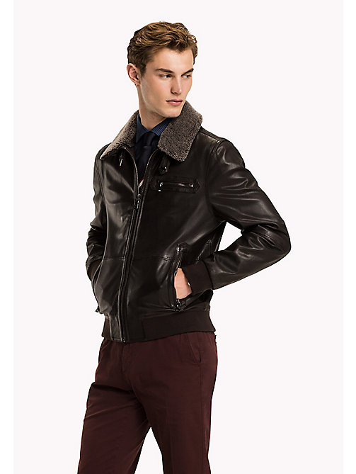TOMMY HILFIGER Leather Pilot Jacket - 228 - TOMMY HILFIGER Coats & Jackets - main image