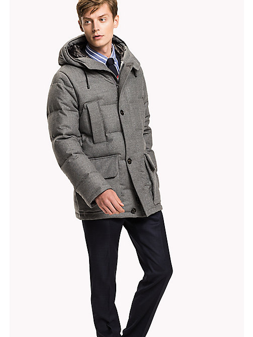 TOMMY HILFIGER Flannel Down Parka - SILVER FOG HEATHER - TOMMY HILFIGER Coats & Jackets - main image
