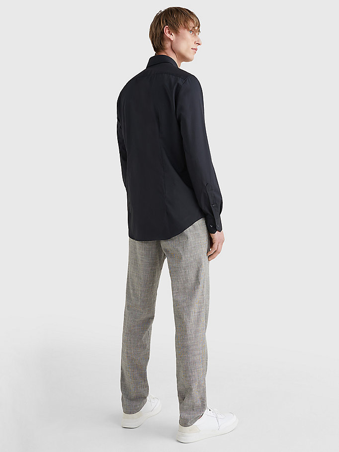 TOMMY HILFIGER Slim Fit Stretch Cotton Shirt - 429 - TOMMY HILFIGER Men - detail image 3